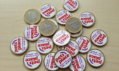 Euro munt stickers